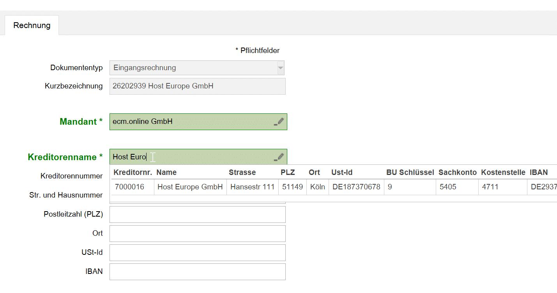 Stammdaten importieren in Invoice Basic