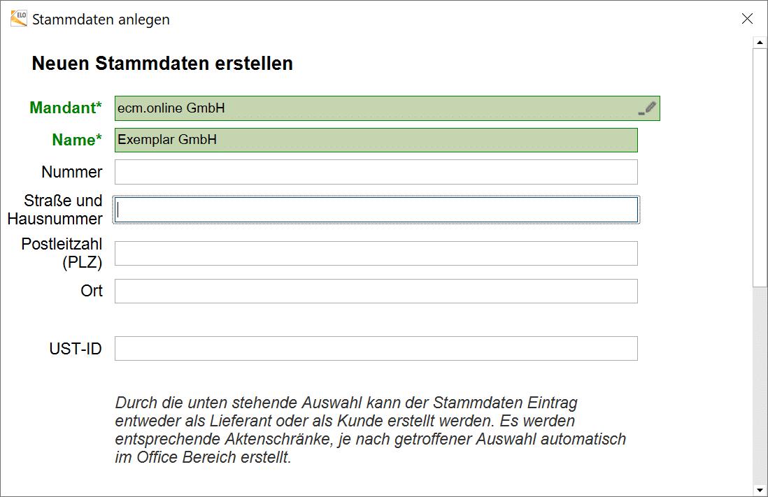 Stammdaten erstellen in Invoice Basic